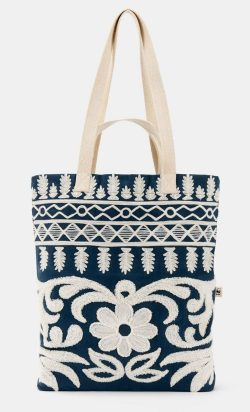 Rodales Organic Cotton Embroidered Tote
