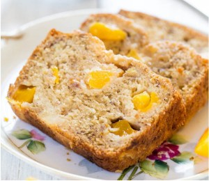 peach mango banana bread via Averie Cooks