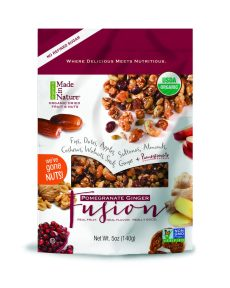 Made in Nature Pomegranate Ginger Fusion and other organic snacks