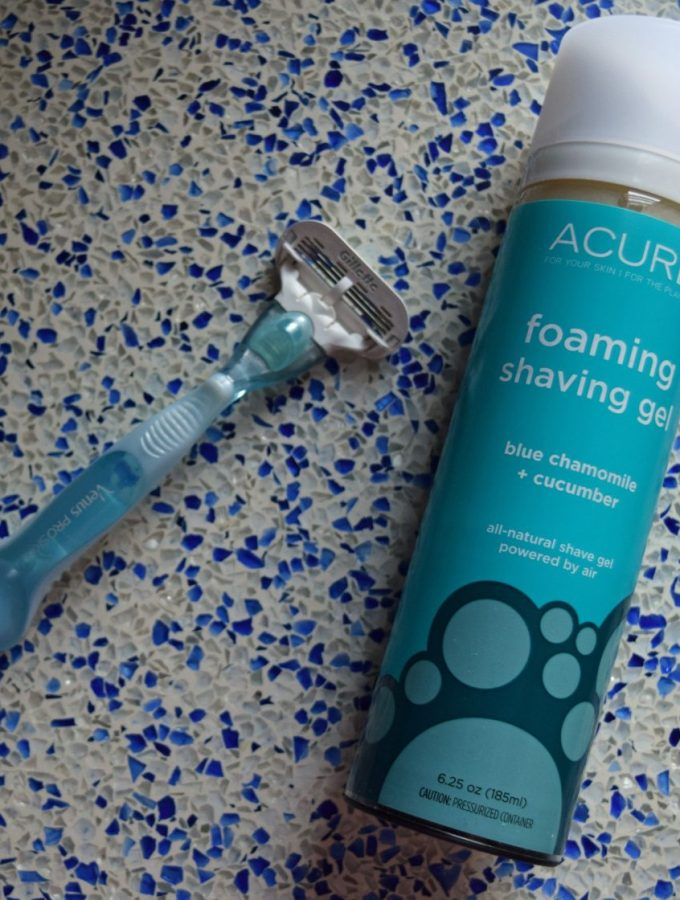 Acure foaming shave gel
