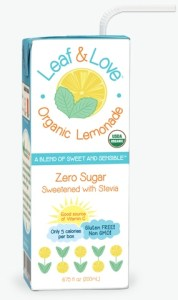 leaf and love organic lemonade and other organic snacks
