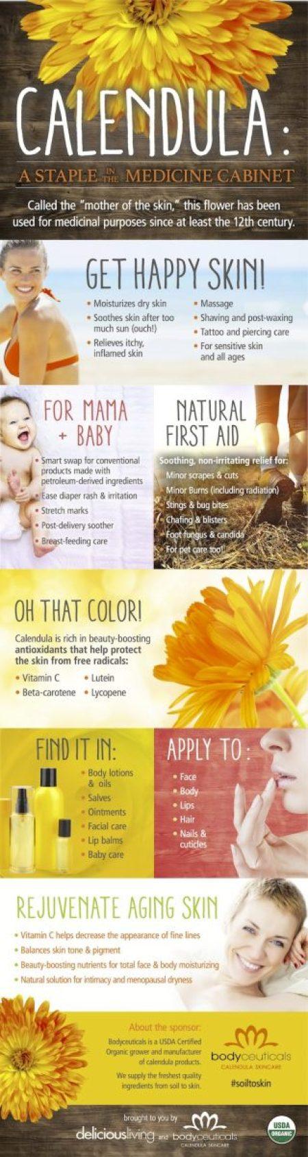 Why Calendula is Good for Skin // www.mindfulmomma.com