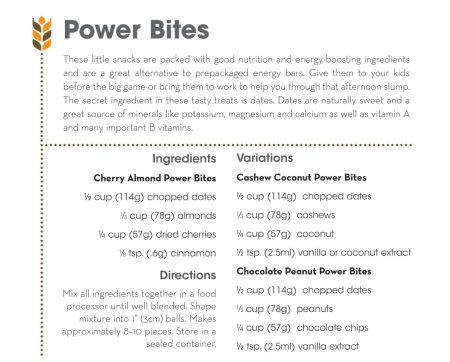 Power Bites Recipe from Practically Green // www.mindfulmomma.com