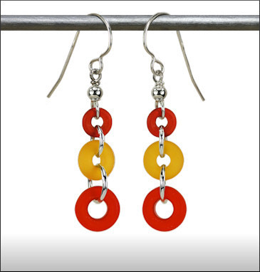 Recycled Glass Rings & Things Earrings // www.mindfulmomma.com
