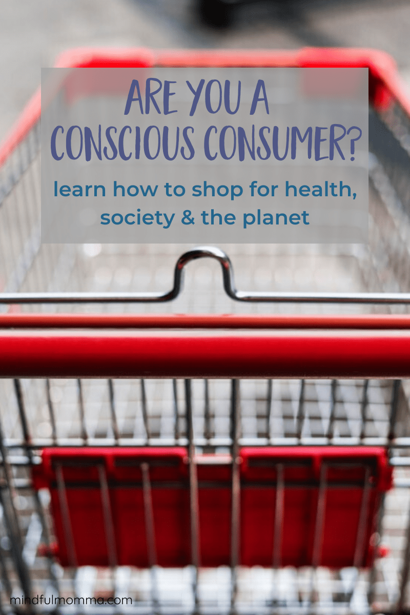 Learn how to be a conscious consumer by paying attention to the health and environmental effects of products you buy, as well as the impacts on society. Conscious consumerism is a movement to stop buying mindlessly and start asking questions and demanding transparency from companies. There are many baby steps you can take to be a more conscious consumer so READ THE POST to learn more! #consciousconsumer #ecofriendly #nontoxic #sustainable #organic #natural via @MindfulMomma
