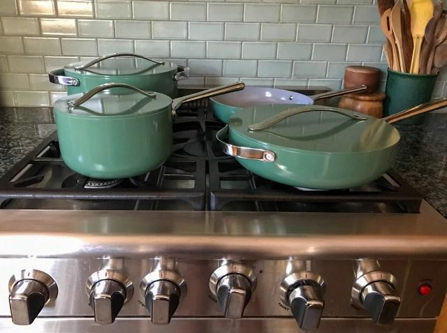 Caraway ceramic non-stick non-toxic cookware