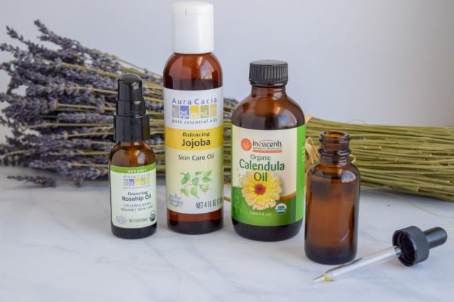 Carrier oils used in homemade facial oil