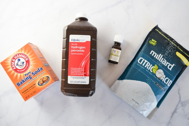 Ingredients for Fizzy Toilet Bombs