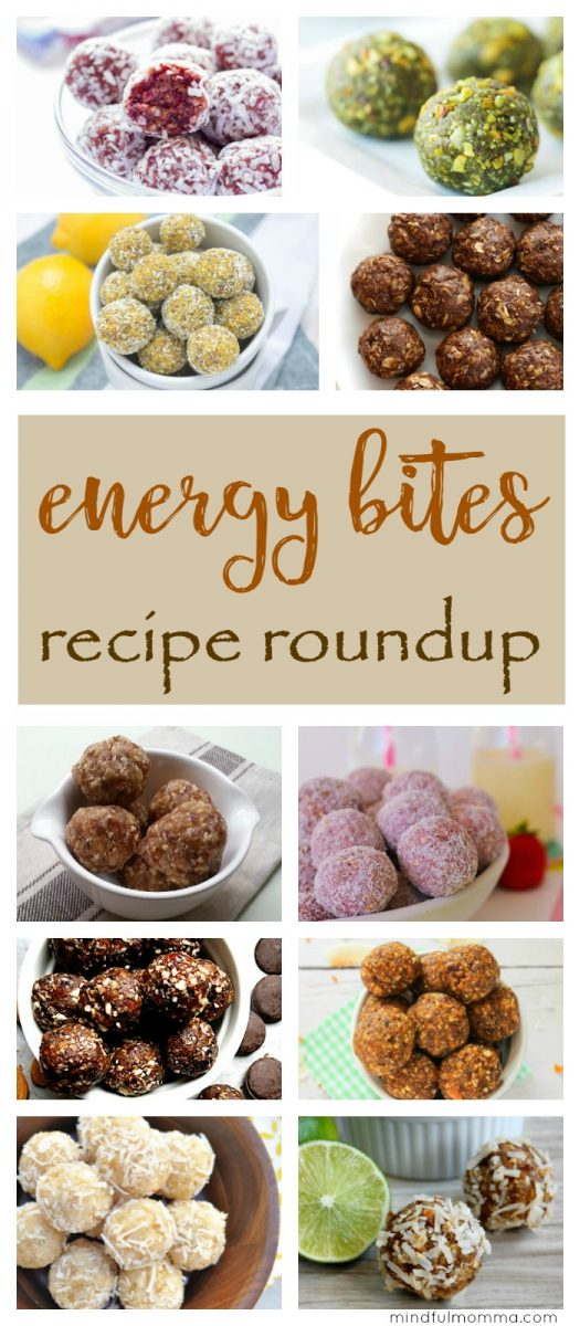 A roundup of homemade energy bites recipes in every flavor combination you can think of - for an easy, healthy, kid-friendly snack, breakfast or dessert. | no bake snacks | energy balls  via @MindfulMomma