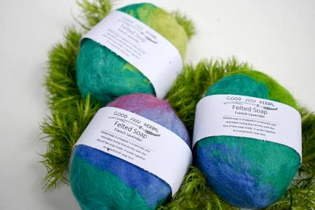 Felted soap and other eco friendly gifts