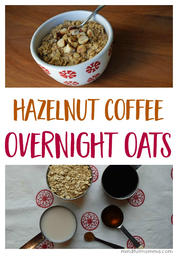 Make this Hazelnut Coffee Overnight Oats (aka JOLTMEAL) before you go to bed and it will give you the jolt you need to be ready for the day ahead! | easy, healthy breakfast idea | oatmeal recipe