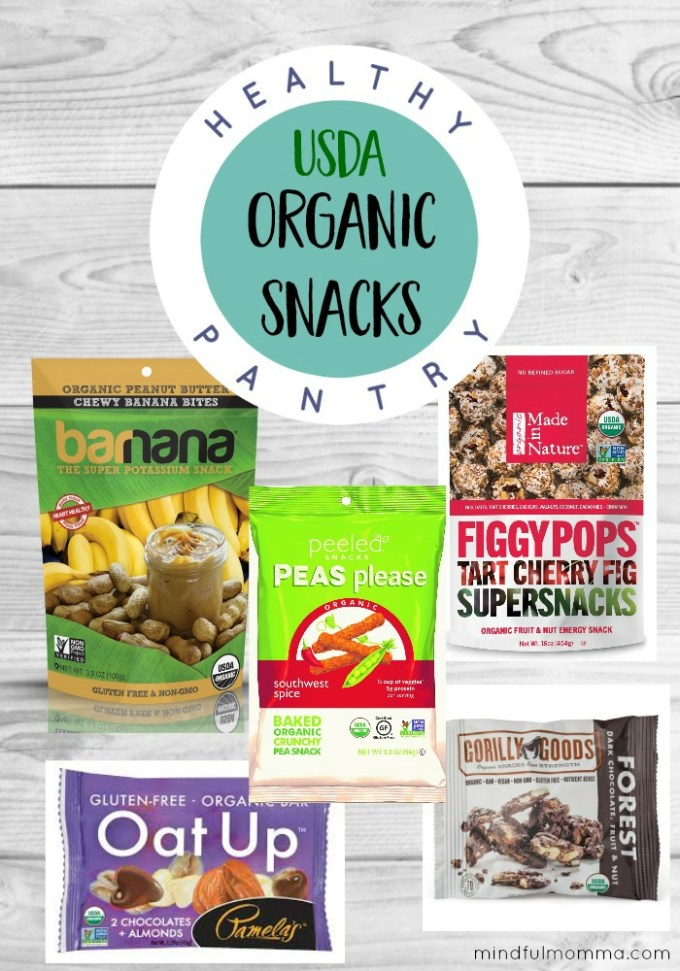 Organic Snacks to Stock Your Healthy Pantry