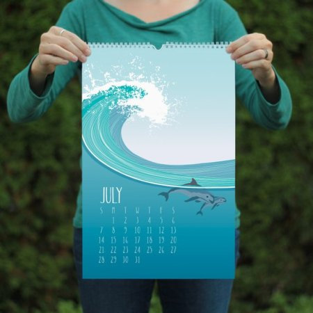 Nature inspired recycled paper calendar