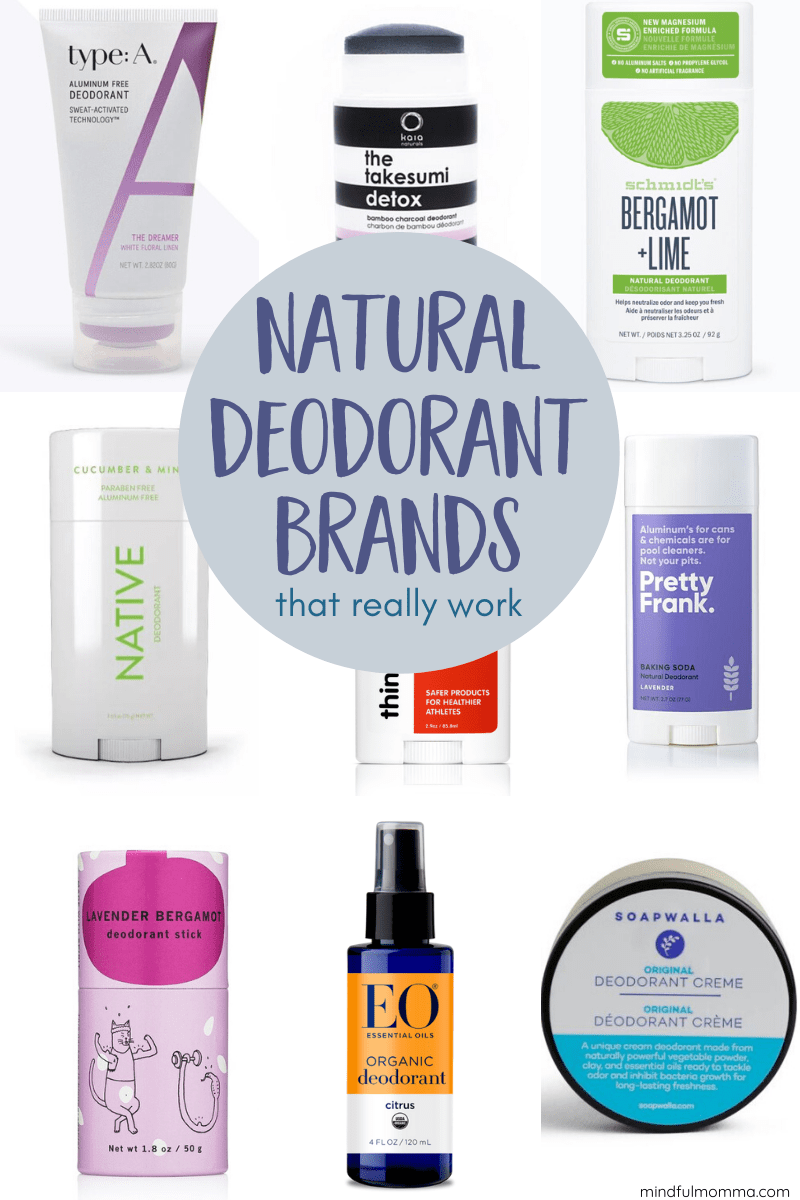 This review of natural deodorant brands will help you find the effective, non-toxic deodorant that works best for your personal needs. | #deodorant #personalcare #nontoxic #naturalproducts via @MindfulMomma