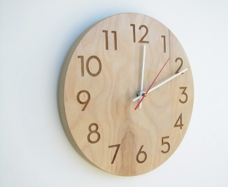 Natural birch clock and other eco friendly gifts