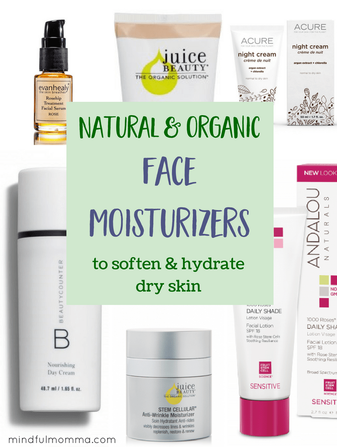 Natural & organic face moisturizers for dry skin