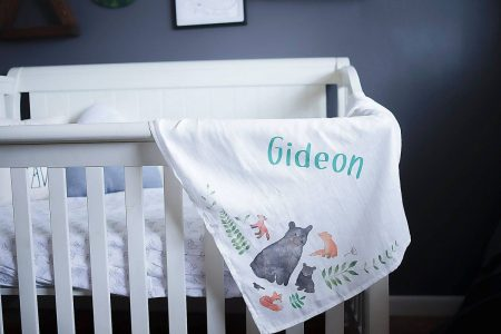 Personalized Organic Cotton Swaddle Blanket