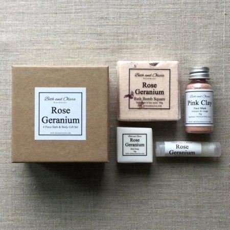 Rose Geranium Body Care Gift Set