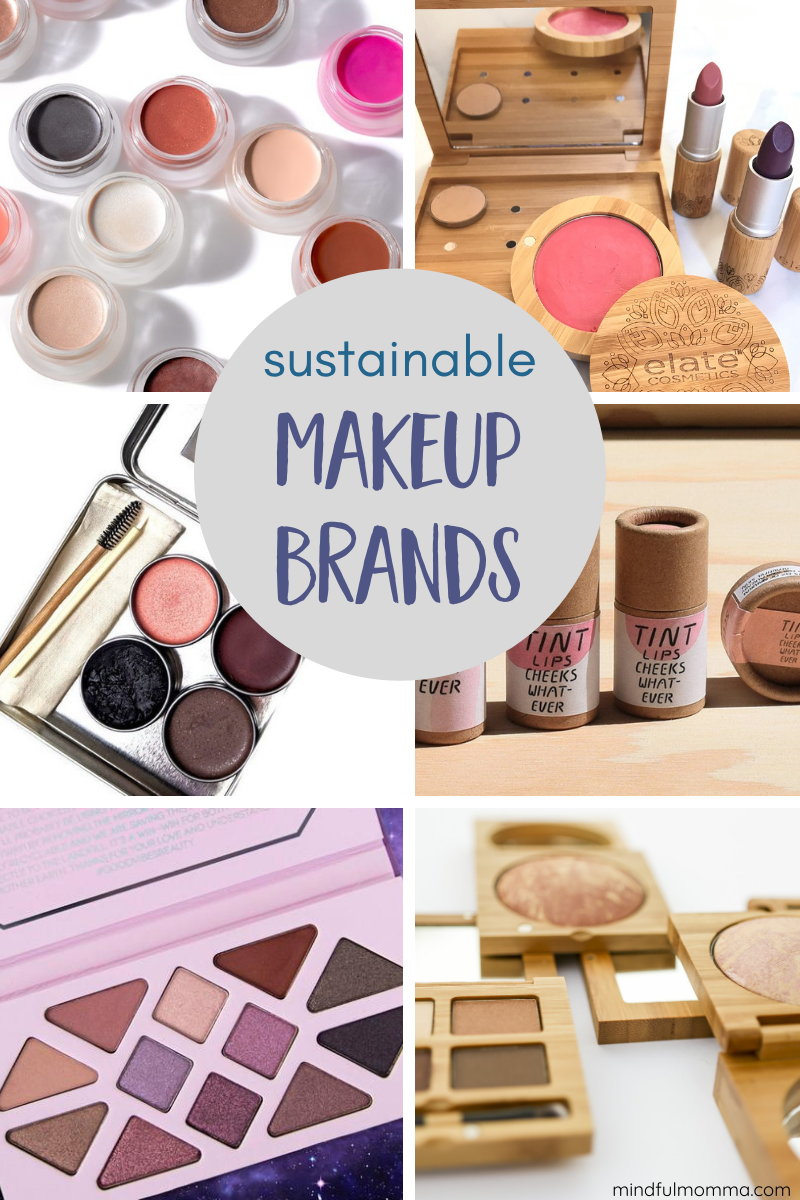 These clean beauty brands go beyond natural ingredients by using sustainable packaging that is plastic-free, zero waste / low waste and eco-friendly. | #makeup #cleanbeauty #zerowaste #sustainable #ecofriendly via @MindfulMomma