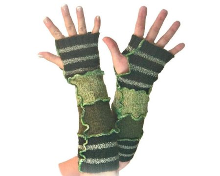 Upcycled Arm Warmers and other eco friendly gifts