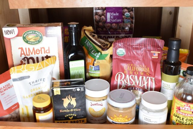 Organic food in pantry