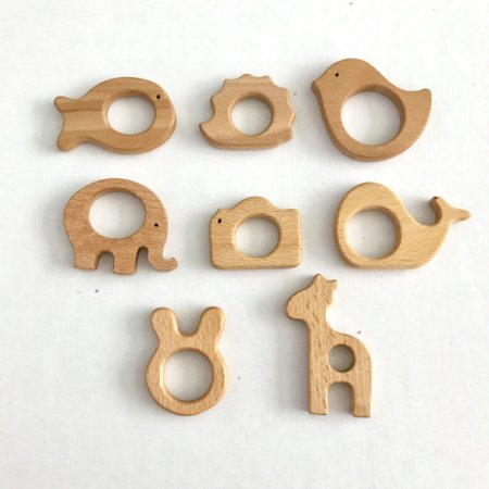 Wooden Animal teether and other eco friendly gifts