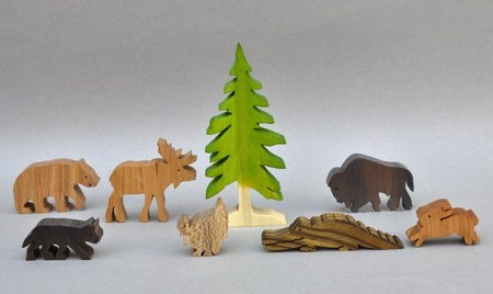 Wooden toy animals and other eco friendly gifts