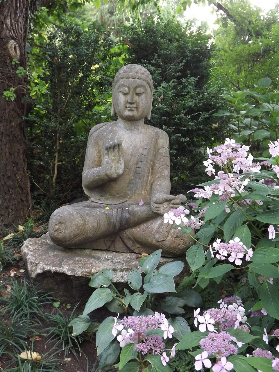 How to create a zen garden for Statue jardin zen