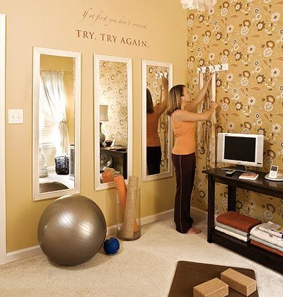 create a tranquil and sizesavvy space to exercise in your