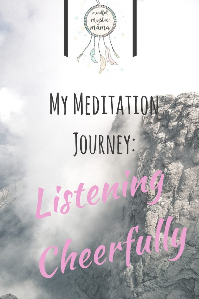 meditation listening cheerfully