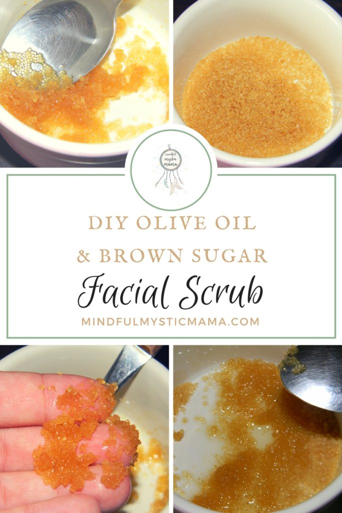 brown sugar and olive oil facial scrub