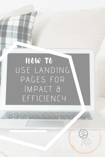 how to use landing pages