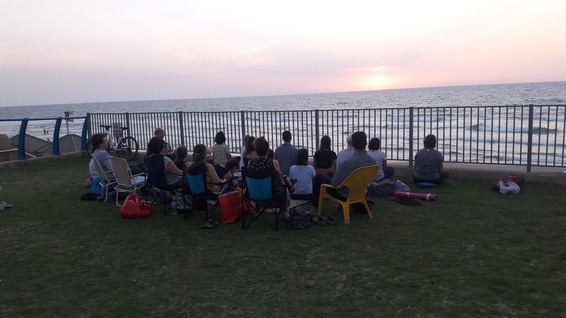 Meditation on the sea front