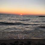 setting sun Presque Isle
