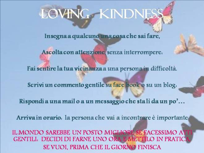 gentilezza amorevole