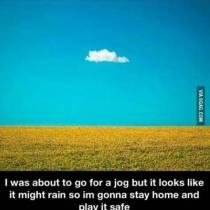 Het is maar een klein wolkje aan de blauwe hemel
