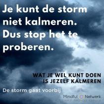 De storm gaat voorbij