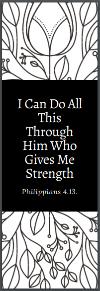 Christian Bookmark to download
