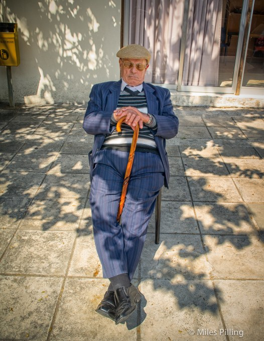 Sleeping Greek Cypriot near the border with North Cyprus