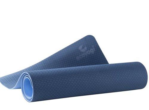 Ecoyogi TPE Yogamat Blauw/blauw 6 mm