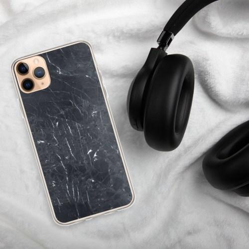 Zwarte Marmeren iPhone hoesje