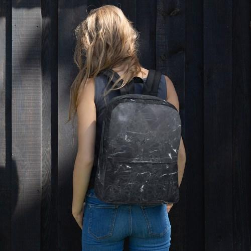 Zwarte Marmeren Backpack