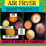 4 eggs in 6 minutes in the air fryer