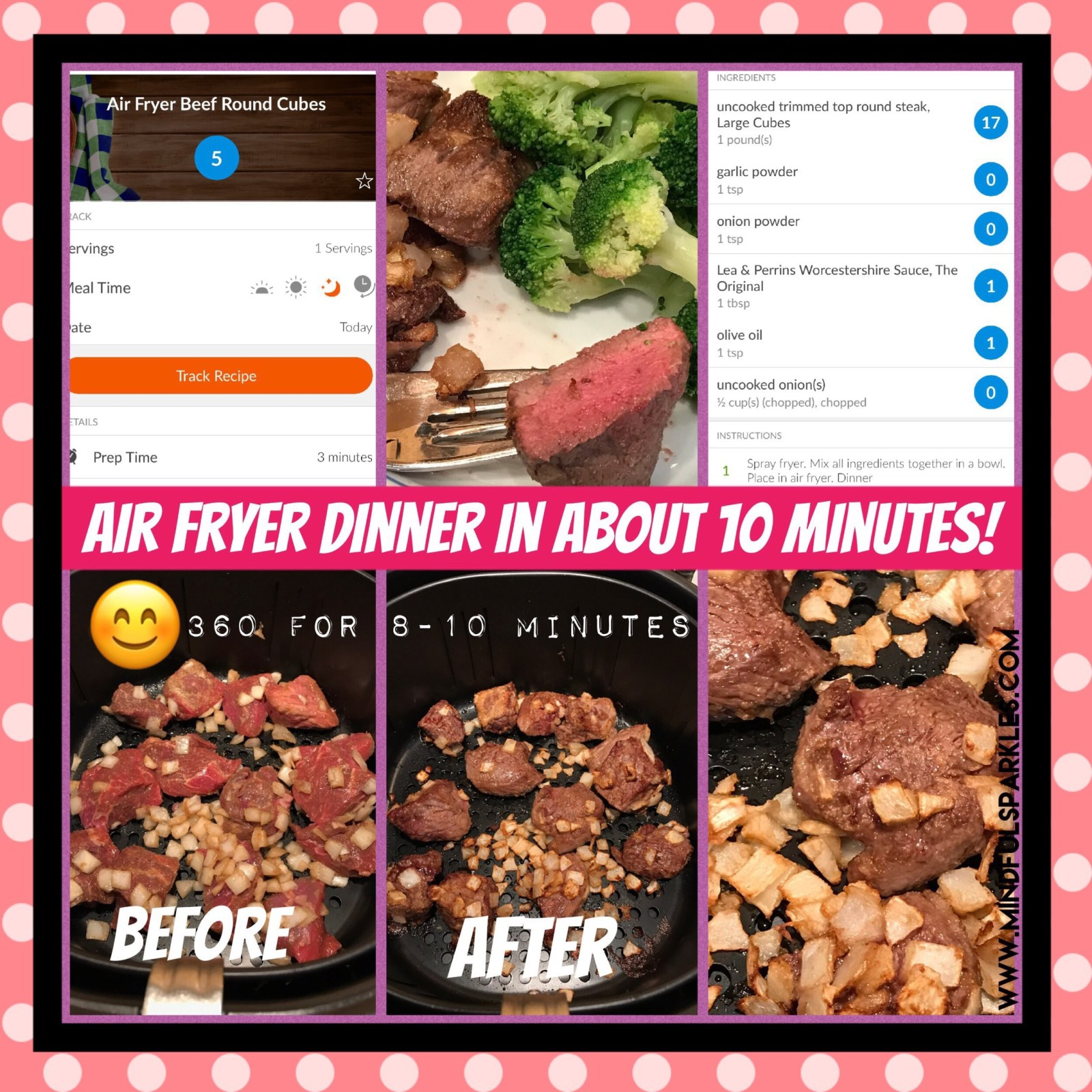Quick Refrerence Air Fryer Beef Tips