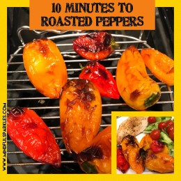 10 minutes to roasted baby bell peppers