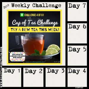 Use this Tracking Grid - Cup of Tea Challenge - Weekly Challenge 4 of 61