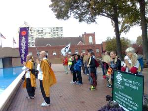 Members of The Center for Mindful Exploration join Alterna and Nipponzan Myohoji Atlanta Dojo for their annual peace walk.