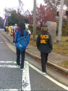 Members of The Center for Mindful Exploration join Alterna and Nipponzan Myohoji Atlanta Dojo for their annual peace walk.