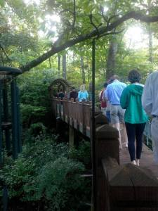 Walking meditation at private yoga retreat