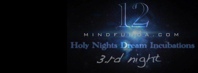 12 holy days - 3rd night